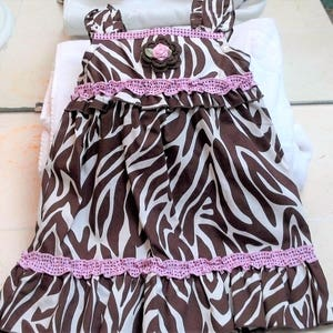 Handmade Irish Rose 2T 24 months 3T Sizes 3-6 months and 10 years Infant Toddler Girls Pink Brown Floral  Dress Sundress