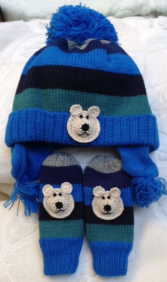 boys beanie teddy bear blue size 1 12 months