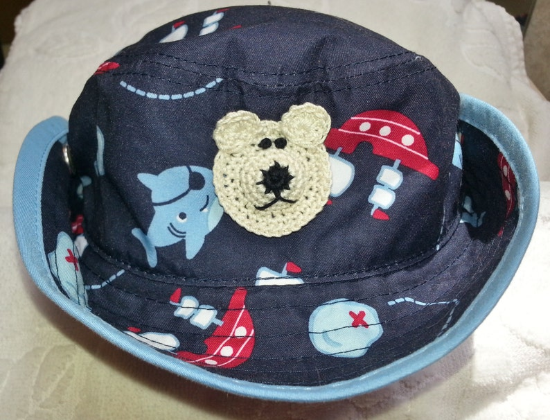 0b181d32119ad7 Boys Baby Infant Outback Safari Cowboy Bucket Hat Blue Sharks | Etsy