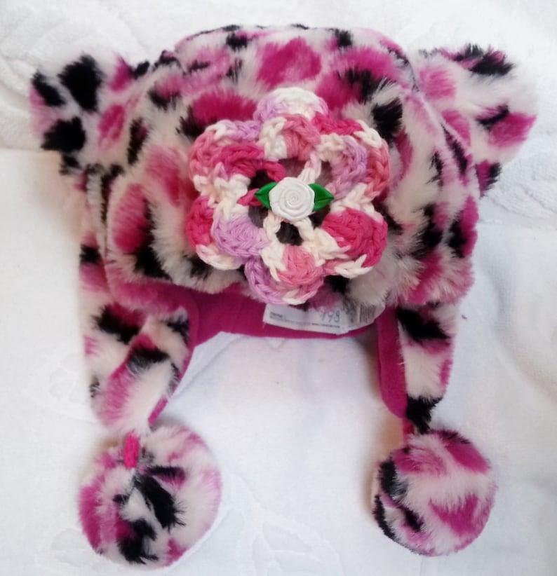 4fb509bbd4dccf Baby-Mädchen Baby Kleinkind Pink Gepard Trapper Faux Pelz | Etsy