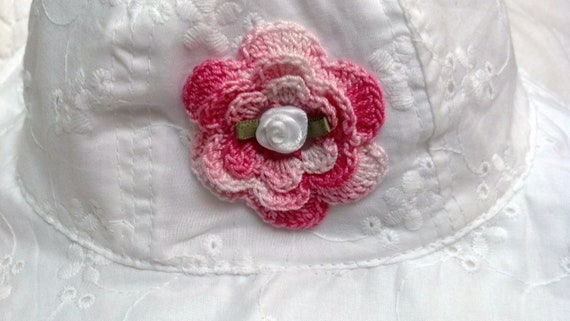 c3e6a8604a320 Girls Baby Infant Toddler White Eyelet Hat Sunhat - Handmade Irish Rose  MANY COLORs - Sizes 6-18 months and 2T-4T