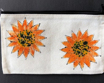 2 SUNFLOWERS Pouch