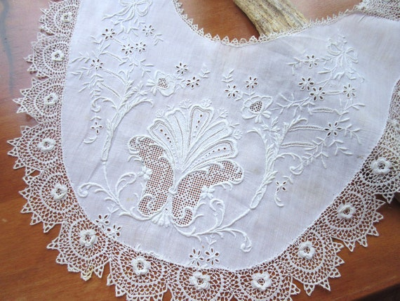 Antique  Collar  Vintage Collar Lace Collar Croch… - image 1