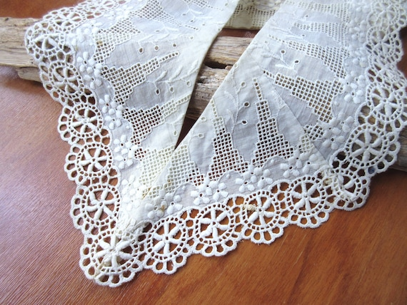 Antique  Collar  Vintage Collar Victorian  Lace Co