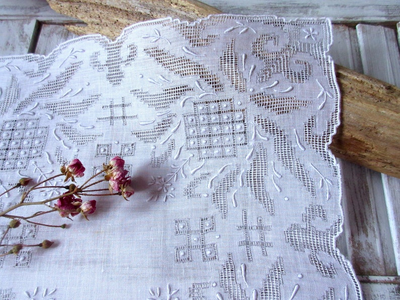 Wedding   Handkerchief  Vintage Hanky  Wedding Handkerchief  Ivory Wedding Accessories  Bridal Hanky.