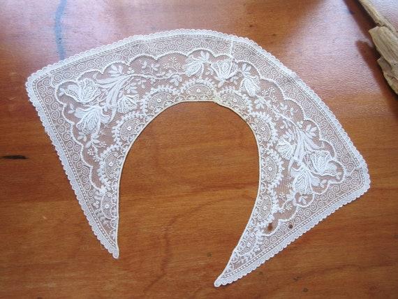 Antique  Collar  Vintage Collar  Embroidered Beig… - image 9