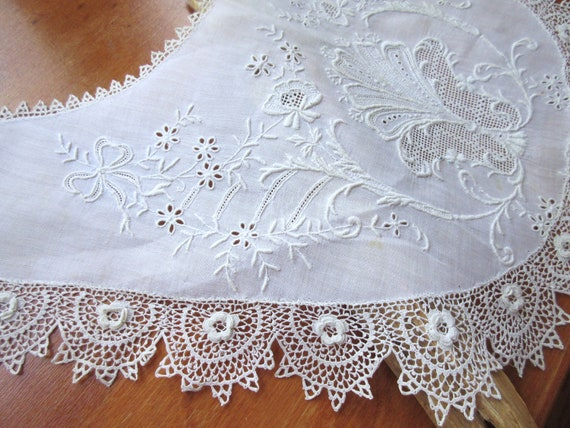 Antique  Collar  Vintage Collar Lace Collar Croch… - image 7