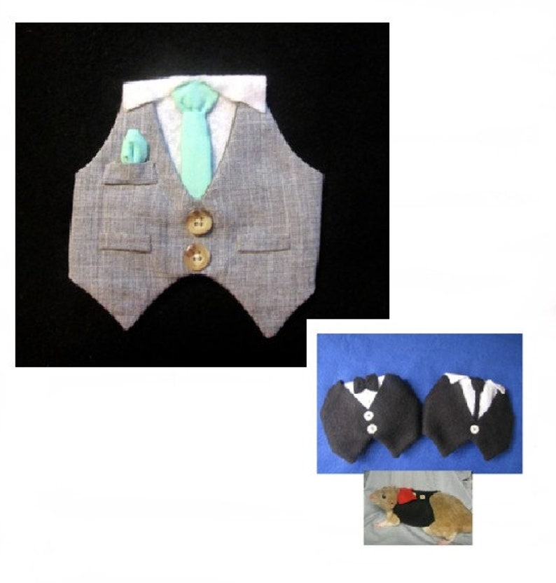 Debonair Big Boy Suit modeled by Toby a hamster...made to order