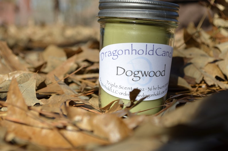 Dogwood 8oz Hand Poured Candle Soy-Paraffin Triple Scented image 0
