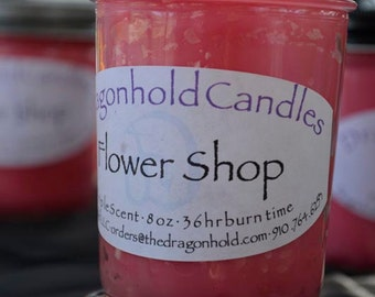 Flower Shop Candle: Hand Poured, Triple Scented Soy-Paraffin Candle