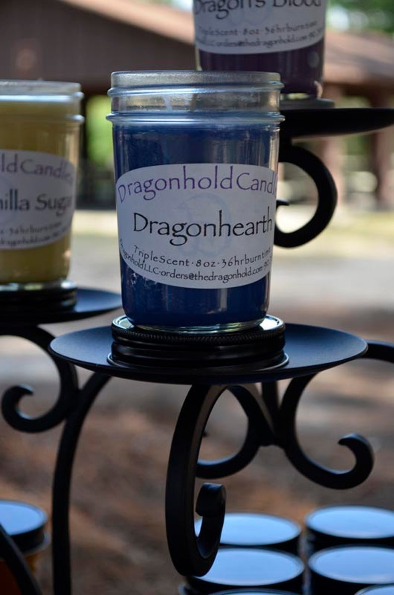 Dragonhearth Candle: Hand Poured Triple Scented Soy-Paraffin image 0