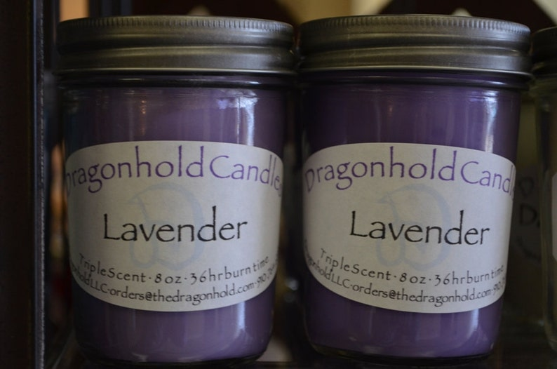 Lavender Cucumber Sage Candle: Hand Poured Triple Scented image 0