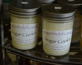Sugar Cookie Candle: Hand Poured, Triple Scented Soy-Paraffin Candle