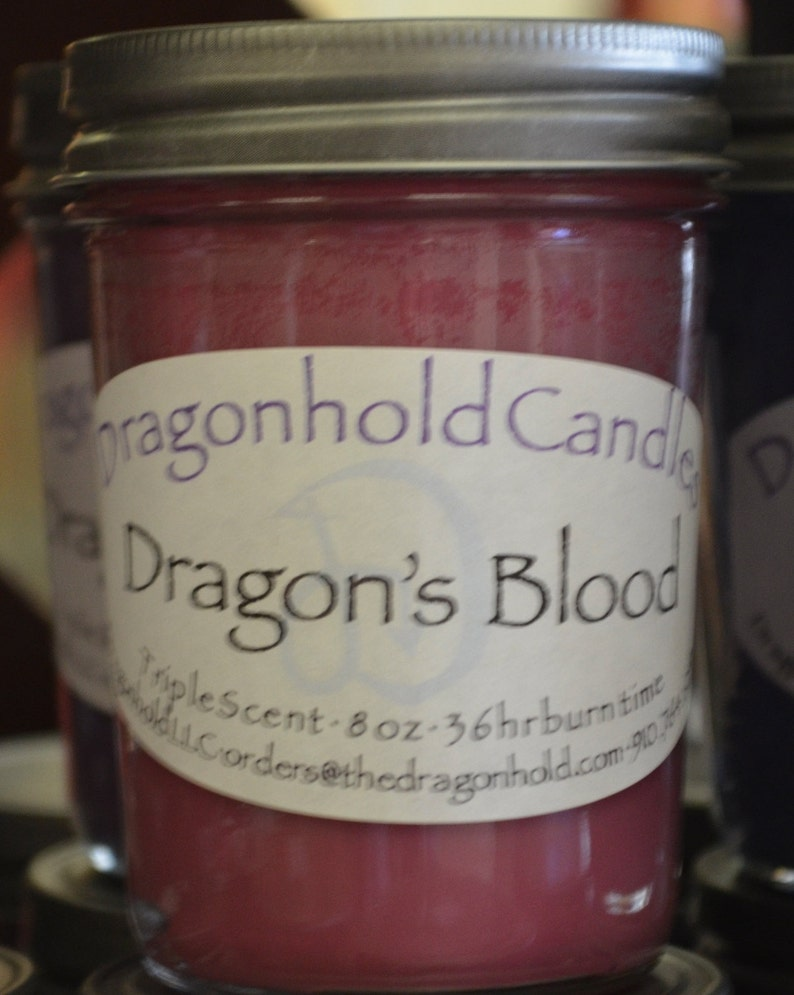 Dragon's Blood Candle: Hand Poured Triple Scented image 0