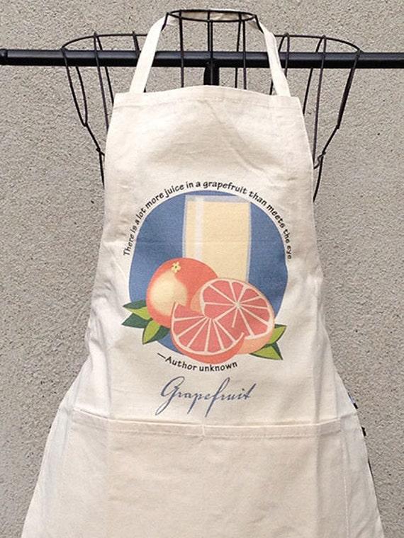 Chef S Apron Grapefruit Etsy