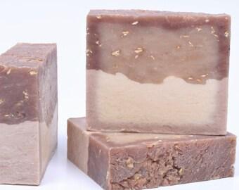 Silk & Honey Handmade Soap Bar with Oatmeal Cocoa Butter Silk Peptides