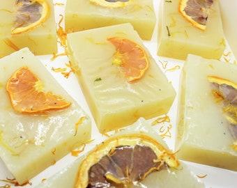 Hemp Aloe Soap with Calendula Citrus Fruit Oats Poppy Seeds Glycerin