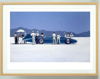 Jack Vettriano Bluebird at Bonneville prints, Framed Jack Vettriano prints  ,framed or unframed Wall Art Prints