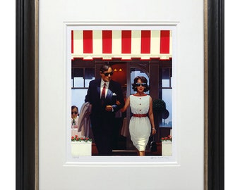 Lunchtime Lovers by Jack Vettriano ,   Jack Vettriano prints , framed or unframed prints , wall art prints, Vettriano limited editions