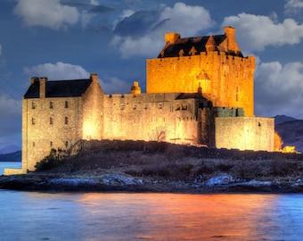 Eilean Donan Castle 15 , Eilean Donan Castle prints  , Scottish castle prints ,Scotland print ,  Scotland gifts, Scottish gifts