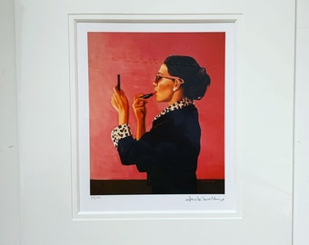 Jack Vettriano prints , Diva by Jack Vettriano , mounted print , limited edition print , signed Vettriano prints, Wall Art Prints
