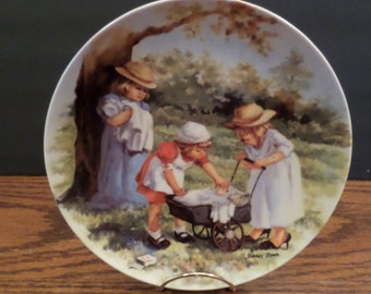 "Jeanne Downs Collectible Plate ""Office Hours"" Knowles Fine China"