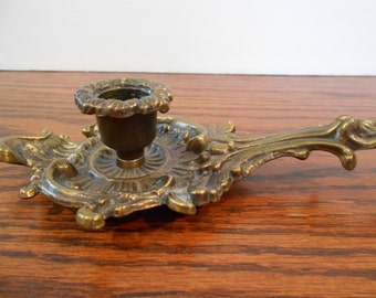 Solid Brass Ornate Candle Holder