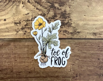Toe of Frog Sticker | buttercup | vinyl waterproof sticker | witchcraft witchy potion herbalism