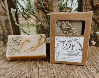"Dirt Scented ""Forager"" Goat Milk Soap | 4 oz | local Colorado goat milk soap |"