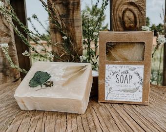 "Unscented ""Maiden"" Goat Milk Soap | 5 oz | local Colorado goat milk soap |"