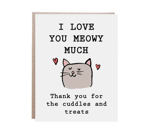 girlfriend card, I want to spend every lifetime with you anniversary card A1 blank greeting card Cat Valentine/'s day card