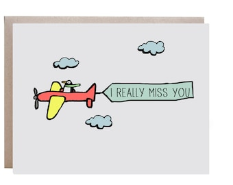 Miss You Cards Etsy