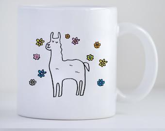 Llama Mug, Llama Gift, Llama