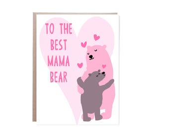 Mama Bear Card, Mother's Day Card, Mothers Day Card, Happy Mother's Day, Happy Mothers Day