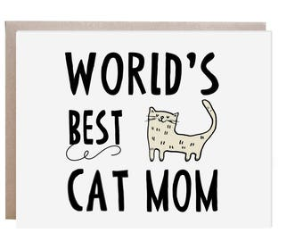 Cat Mother's Day Card, Cat Mom Card, Cat Lady, Crazy Cat Lady