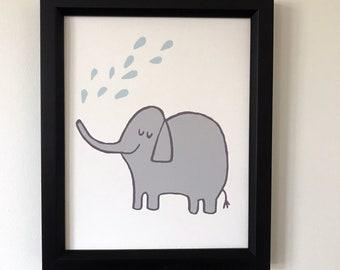Animal Print, Jungle Print, Elephant Print, Baby Wall Art, Nursery Art