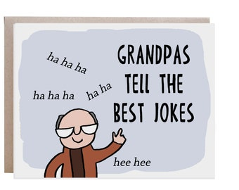 Father's Day Card, Grandfather Card, Grandpa Card, Card for Dad, Card for Grandpa