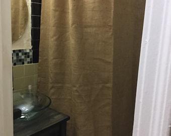 Natural Burlap Shower Curtain