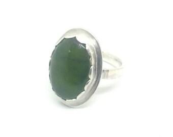 Jade Ring, Jade and Sterling Silver Ring, Green Jade Ring, green jade, statement ring, silver ring, jade, green jade ring,