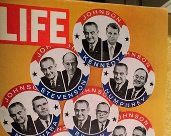 Vintage Life Magazine, May 8, 1964 Who Will Button up the Bottom Half of the Ticket