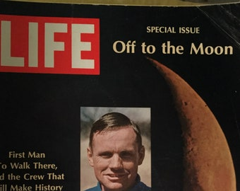 Vintage LIFE Magazine, July 4, 1969 Special Issue, Off to the Moon,