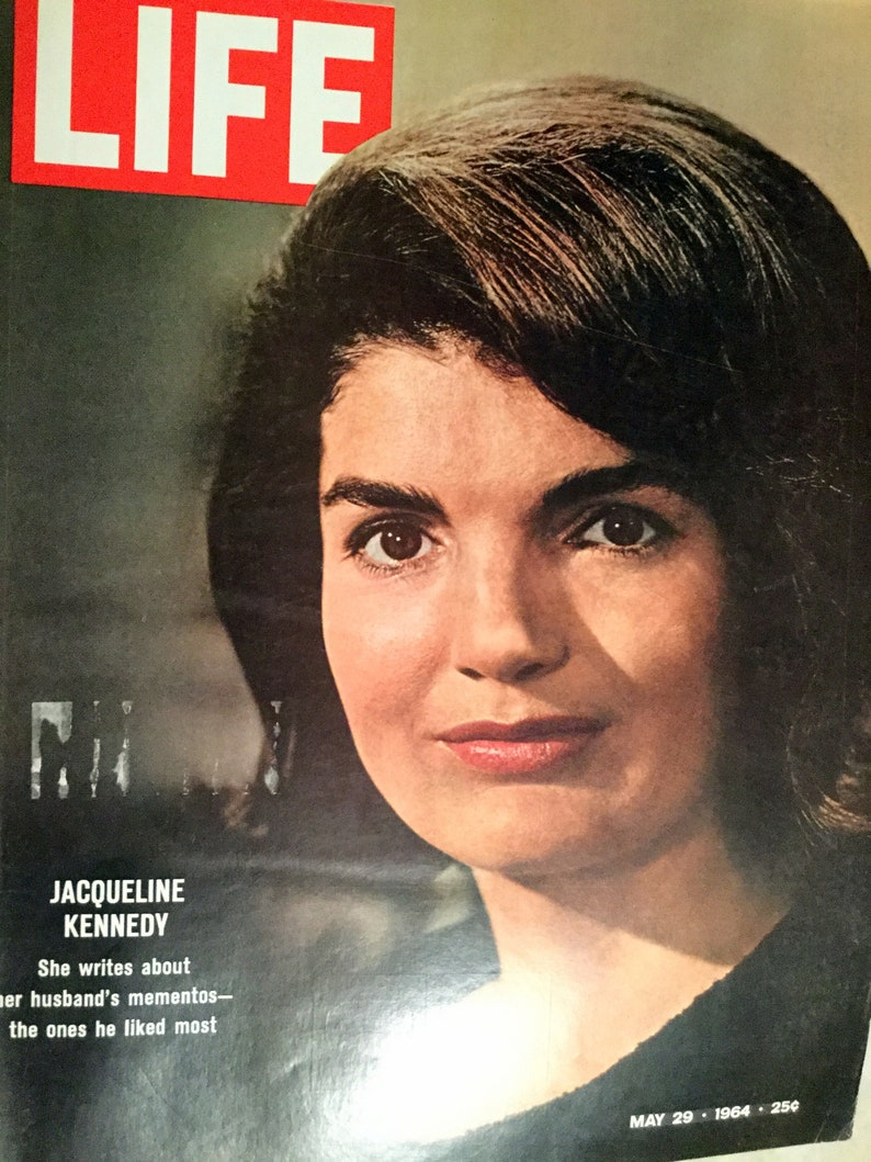 Vintage Life Magazine, May 29, 1964 Jacqueline Kennedy Writes about her  Husbands mementos