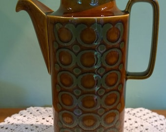 Hornsea Bronte coffee pot retro vintage 1970s