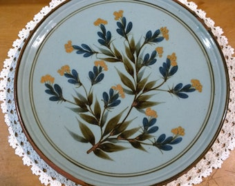 Highland Stoneware large plate charger floral pattern flowers Scottish