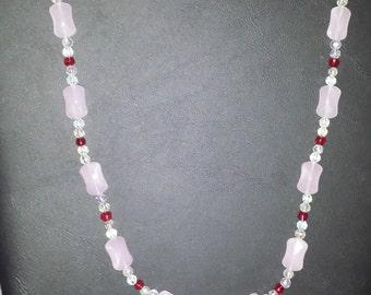 "12"" Lady Lynn Pink Necklace"