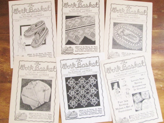 Vintage 1930s The Workbasket Magazine Home And