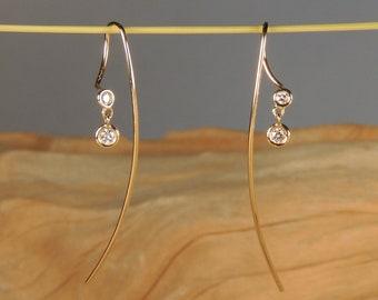 Floret Duet Diamond Earrings