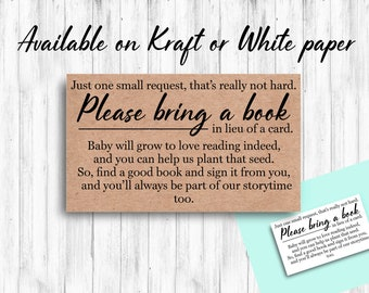 Baby Shower Book Request Cards
