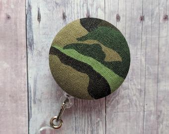 Badge Reel Camouflage Badge Reel Resin Badge Reel Camo Badge Reel Paint Chip Badge Reel