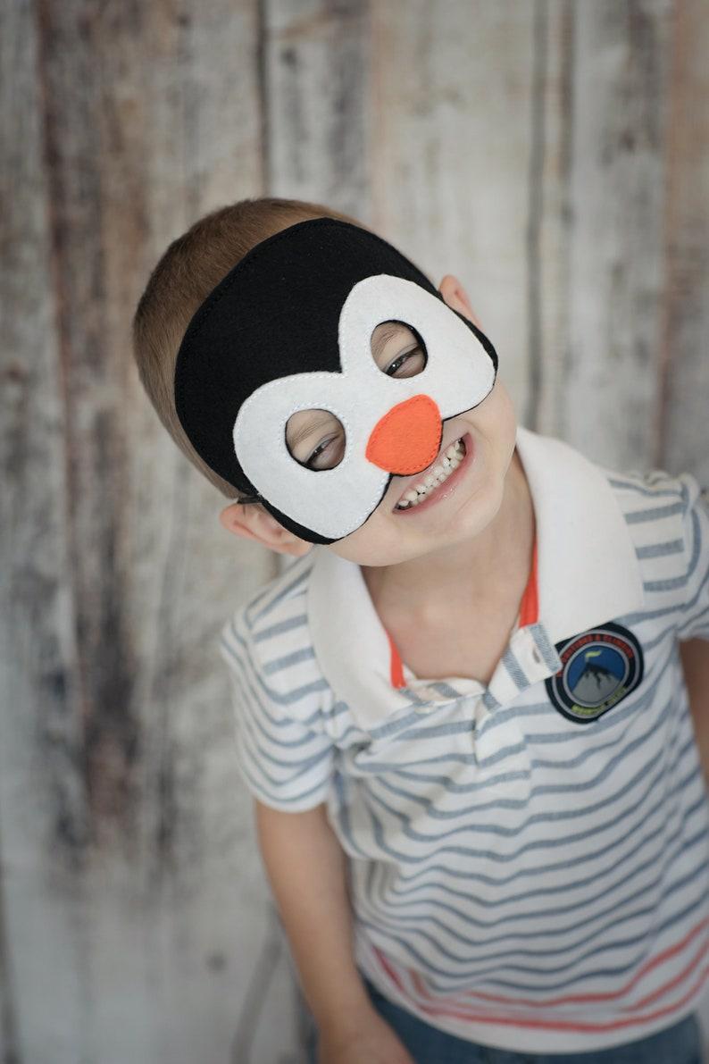 c39f6791e792 Penguin Felt Mask Black Orange   White Acrylic Felt Elastic